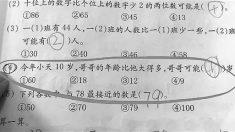 """중국 온라인 난리난 초등학교 수학문제 """"동생이 10살이면 형은 몇살일까"""""""